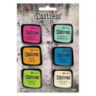 Tim Holtz Distress Enamel Collector Pin Set 1 - 6/Pkg