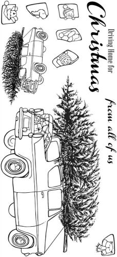 Driving Home for Christmas DL (CS328D) Hobby Art Stamps