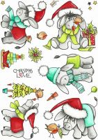 CS254D Hobby Art Stamps - Dudley Does Christmas