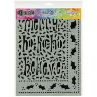Dyan Reaveley's Dylusions Stencils Ho Ho Holly- large