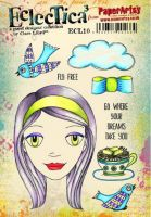 PaperArtsy Clare Lloyd ECL10 A5 Rubber Stamps
