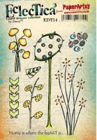 PaperArtsy - Darcy EDY14 A5 Cling Rubber Stamp Set