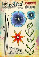 PaperArtsy Darcy EDY18 A5 Rubber Stamps
