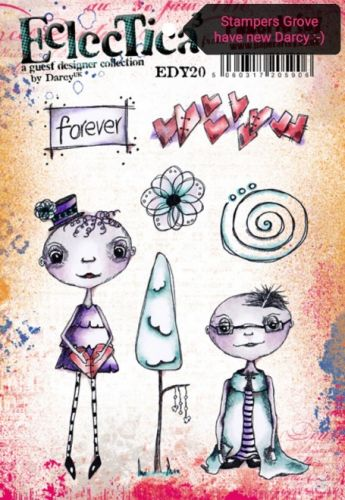 PaperArtsy - Darcy EDY20 A5 Cling Rubber Stamp Set
