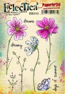 PaperArtsy - Kay Carley EKC01 A5 Cling Rubber Stamps