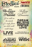 PaperArtsy Lin Brown 28 A5 Rubber Stamps