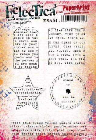 Seth Apter ESA04 A5 Cling Rubber Stamp Set