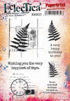 Eclectica Sara Naumann ESN37 PaperArtsy A5 Cling stamp set