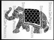 Elephant March Stencil (L191) designed by Nathalie Kalbach for StencilGirl 9 inch by 12 inch