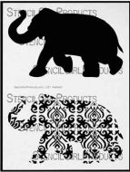 Elephant Parade Stencil (L321) designed by Nathalie Kalbach for StencilGirl 9 inch by 12 inch
