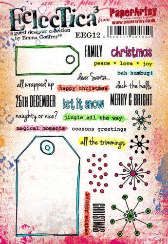 PaperArtsy Emma Godfrey EEG12 A5 Rubber Stamps