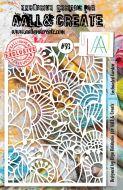 No. 93 Enchanted Garden Aall and Create A5 Stencil