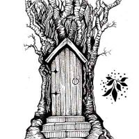 Fairy Door Lavinia Stamps (LAV141)