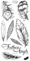 CS155D Hobby Art Stamps - Feathers