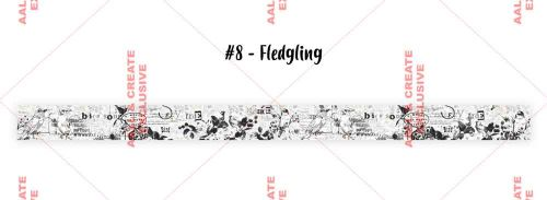 Fledgling (no. 8) 25mm thick washi tape by Tracy Evans for Aall and Create (AALWT008)