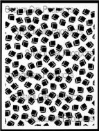 Floating Cubes B Stencil (L460) designed by Andrew Borloz for StencilGirl 9 inch by 12 inch