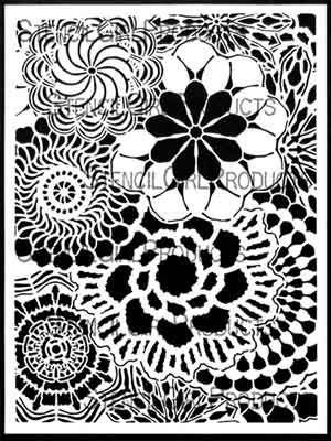 Floral Lace (L794) Stencil designed by Kristie Taylor for StencilGirl (9