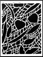 Forest Floor Stencil (L703) designed by Roxanne Evans Stout for StencilGirl (12 inch by 12 inch)