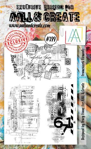 Framework Elements No. 399 Aall and Create A6 sized stamp by Tracy Evans (AAL00399)