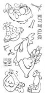 CS132D Hobby Art Stamps -  Funky Chicken