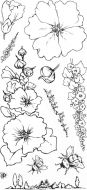 Garden Flowers DL Hobby Art Stamp Set (CS258D)