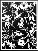 Garden Montage Stencil designed by Cecilia Swatton for Stencil Girl (9 inch by 12 inch)