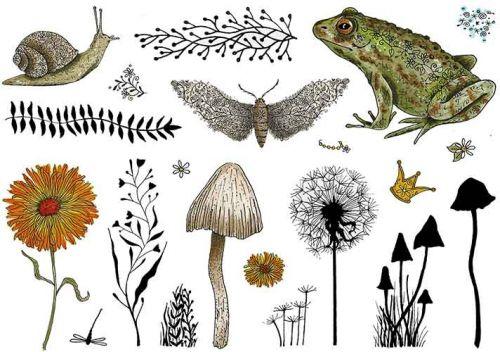CS227D Hobby Art Stamps - Garden of Wonders