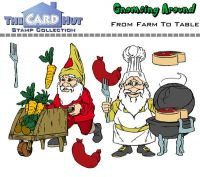 Gnome Farm To Table a6 clear stamp set from Card Hut