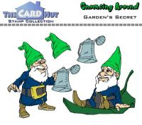Gnome Garden Secret a6 clear stamp set from Card Hut