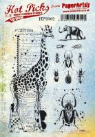 PaperArtsy Hot Picks HP2002 Cling stamp set (A5 size)