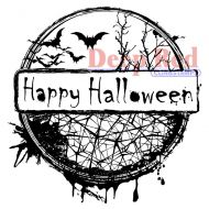 Happy Halloween Cling Rubber Stamp (4X505168) by Deep Red