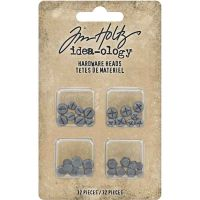 Idea-Ology Metal Flat-backed Hardware Heads (32 pieces)