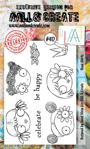 Head Starts No. 412 Aall and Create A6 sized stamp by Janet Klein (AAL00412)