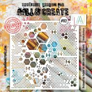 No. 112 Heapza Hexagonz Stencil (6 inch by 6 inch) by Autour De Mwa for Aall and Create