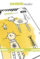 Here Kitty Kitty by Kate Crane for Carabelle Studio (SA60521) - Cling Stamp A6