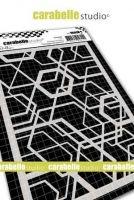 Hexagonal Pattern Mask A6 By Alexi Carabelle Studio (MA60080)