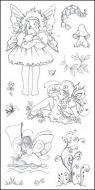 CS050D Hobby Art Stamps - Fairy Girls