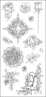 CS055D Hobby Art Stamps - Roses Collection
