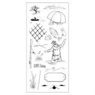 CS070D Hobby Art Stamps - Gone Fishing
