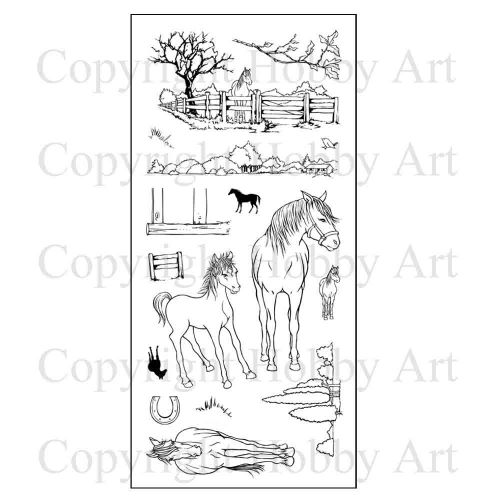 CS096 Hobby Art Stamps - Horses