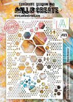 No. 374 Reverse Hexagons Aall and Create A7 Stamp