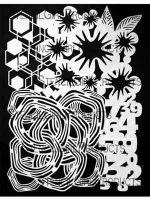 I AM Collage (L801) Stencil designed by Cat Kerr for StencilGirl (9