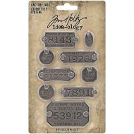 IdeaOlogy Metal Factory Tags 9 pack TH94039
