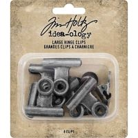 IdeaOlogy Metal Hinge Clip Large (8 pack)