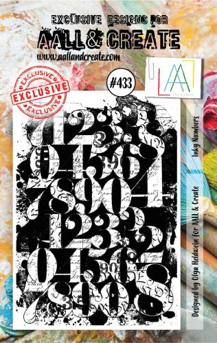 Inky Numbers No. 433 Aall and Create A7 sized stamp by Olga Heldwein (AAL00433)