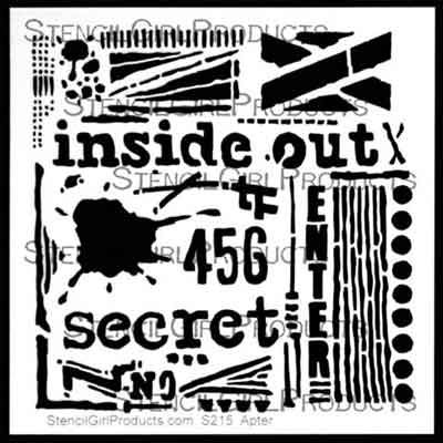 Inside Out Stencil designed by Seth Apter for Stencil Girl (6 inch by 6 inch)