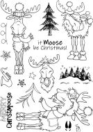 It Moose be Christmas A5 Clear Stamp Stamp Set by Hobby Art (CS280D)