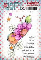 JOFY96 JOFY Paperartsy A5 Cling Rubber Stamp Set