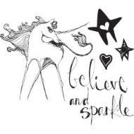 Jane Davenport Artomology Clear Stamps - Unicorn Sparkle