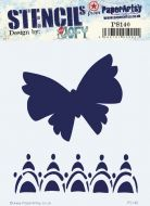 Jo Firth Young PS140 PaperArtsy regular 16cm by 18cm Stencil